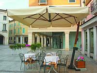 Эксель 3*3м, зонт для кафе, зонт для сада, зонт для бассейна, зонт для пляжа, деревянный зонт