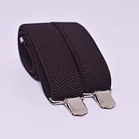 Подтяжки Bow Tie House мужские длинные для статных мужчин - коричневого цвета 06628