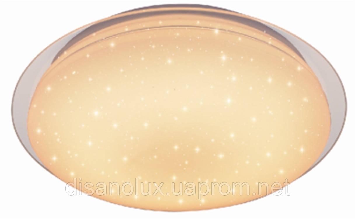 LED светильник Smart Ligh круг  с пультом LD-CBRC 60W, 220V, D56 см  диммируемый, 4000K - 3000K - 6500