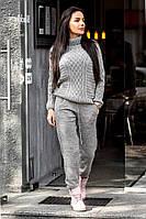 Кашемировый женский вязаный костюм с шерстью tez1410155
