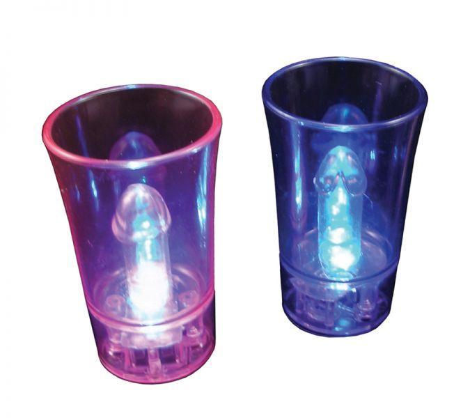 Сувенир стаканчики Light Up Willy Surprise Shot Glass