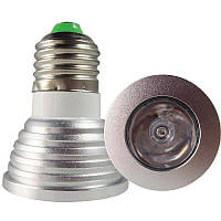 Разноцветная светодиодная лампочка 3W E27 с пультом управления