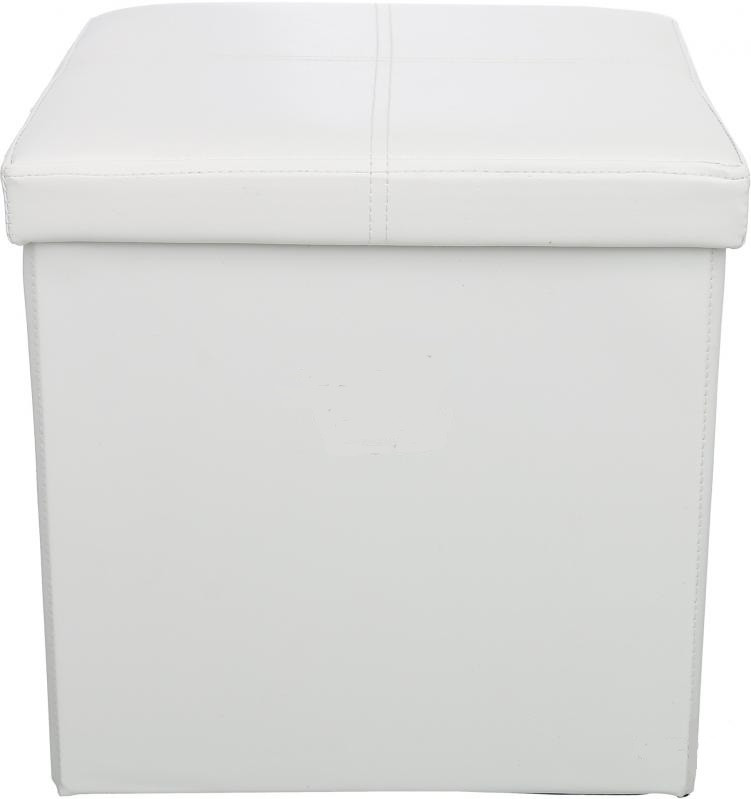 Короб - пуф 38 x 38 x 38 см белый