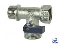 Кран шаровый трехходовой, для подключения стиральной машины 1/2х3/4х1/2 ВНН WATER