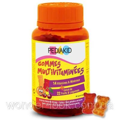 Pediakid gommes multivitaminées жувальний мармелад мультивітаміни
