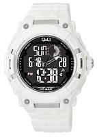 Часы  Q@Q  10Bar - можно плавать, ярко белые, фото 1