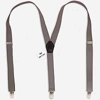 Подтяжки Bow Tie House светло-серые 2,5 см 07501
