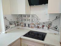 Фартук с изображением для кухни из закалённого стекла.