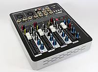 Аудио микшер Mixer BT-4000 4ch.+BT, микшерный пульт, музыкальный микшер, звуковой микшер