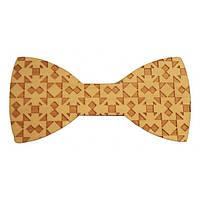 Деревянная Bow Tie House бабочка на магните текстурная в геометрический узор 07625