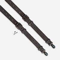 Подтяжки Bow Tie House кожаные серые со стильными застежками 07773