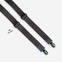 Подтяжки Bow Tie House кожаные серые с винтажными застежками 07774