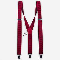 Подтяжки Bow Tie House красные в черный горошек 2,5 см 07776