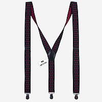 Подтяжки Bow Tie House черные в красный горошек 2,5 см 07786
