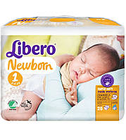 Подгузники Libero Newborn 1 (2-5кг) 28 шт.