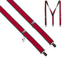 Подтяжки Bow Tie House красные с зеленой окантовкой 07797