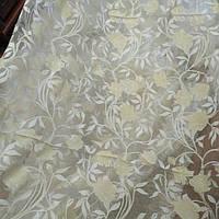 Тюль муар белый цветок шампань, фото 1
