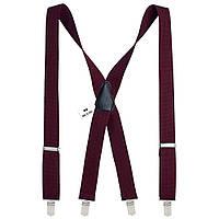 Подтяжки Bow Tie House мужские бордовые 3.5 см X 07817