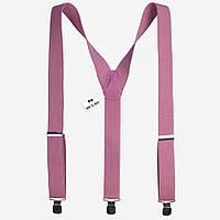 Подтяжки Bow Tie House нежно-розовые 3.5 см Y 07822