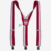 Подтяжки Bow Tie House мужские широкие флаг Польши Y4 cm 07827