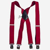 Подтяжки Bow Tie House красные мужские  X4 cm 07831