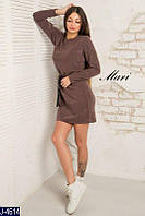 Женское платье с пояском из ангоры