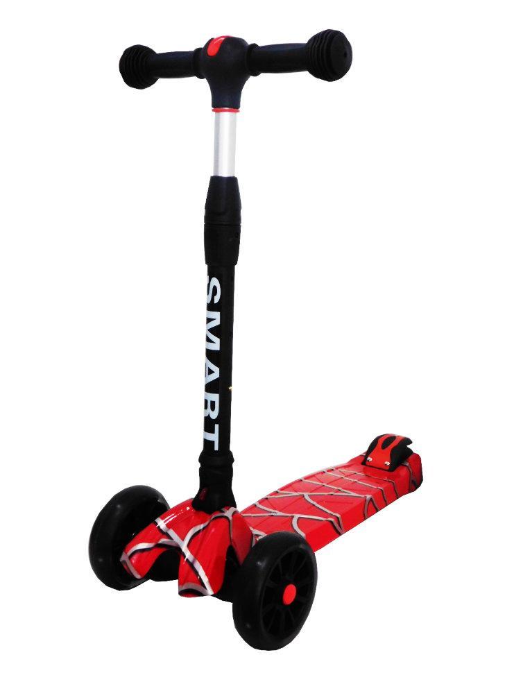 Детский самокат Scooter Runzer SpiderMan усиленный