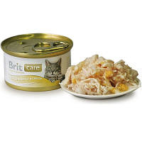 Brit Care Cat CHICKEN BREAST & CHEESE 80 г - консервы для кошек (куриная грудка и сыр)
