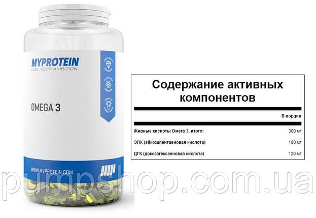 Омега-3 Myprotein Omega-3 250 капс.(Англия), фото 2