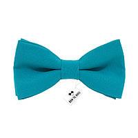 Бабочка Bow Tie House однотонная бирюзовая габардин 08110