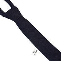 Галстук Bow Tie House джинсовый черный узкий 5 см 08171
