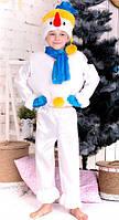 Костюм Настоящий Снеговик 3-7 лет. Детский новогодний карнавальный маскарадный костюм Снеговичок