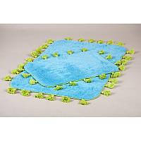 Набор ковриков для ванной Irya - Joy mavi синий 60*90+40*60