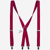 Подтяжки Bow Tie House розовые X2.5 см длинные  08208