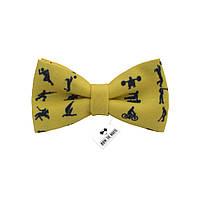 Бабочка Bow Tie House желтая виды спорта 08234
