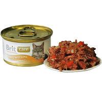 Brit Care (Брит Кеа) Cat TUNA, CARROT & PEA 80г - консервы для кошек (тунец/морковь/горох)