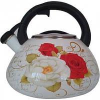 Чайник эмалированный 3,2 л Розы