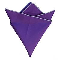 Платок Bow Tie House фиолетовый габардин с белой окантовкой 08363