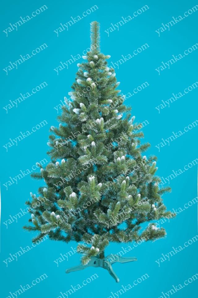 Искусственная новогодняя Ёлка Карпатская с белым кончиком 220см ( ель ) 2.2м елка заснеженная