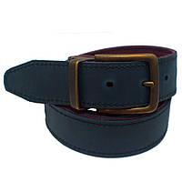 Ремень Bow Tie House кожаный двухсторонний вишневый с черным толщина 4 мм 08490