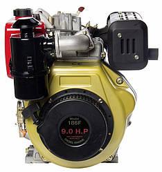 Двигатель дизельный SR186F (9 лс) ручной стартер ( АТ )
