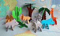 Игрушки 3d пазлы из фетра животные Африканские.
