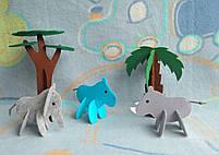 Игрушки 3d пазлы из фетра животные Африканские., фото 2