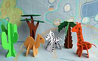 Игрушки 3d пазлы из фетра животные Африканские., фото 3