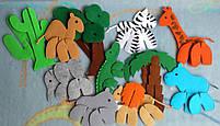 Игрушки 3d пазлы из фетра животные Африканские., фото 4
