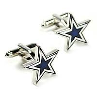 Запонки Bow Tie House металические с темно-синей звездой 08622