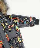 """Зимовий костюм для хлопчика """"Машинки"""" сірий Оптом, фото 8"""
