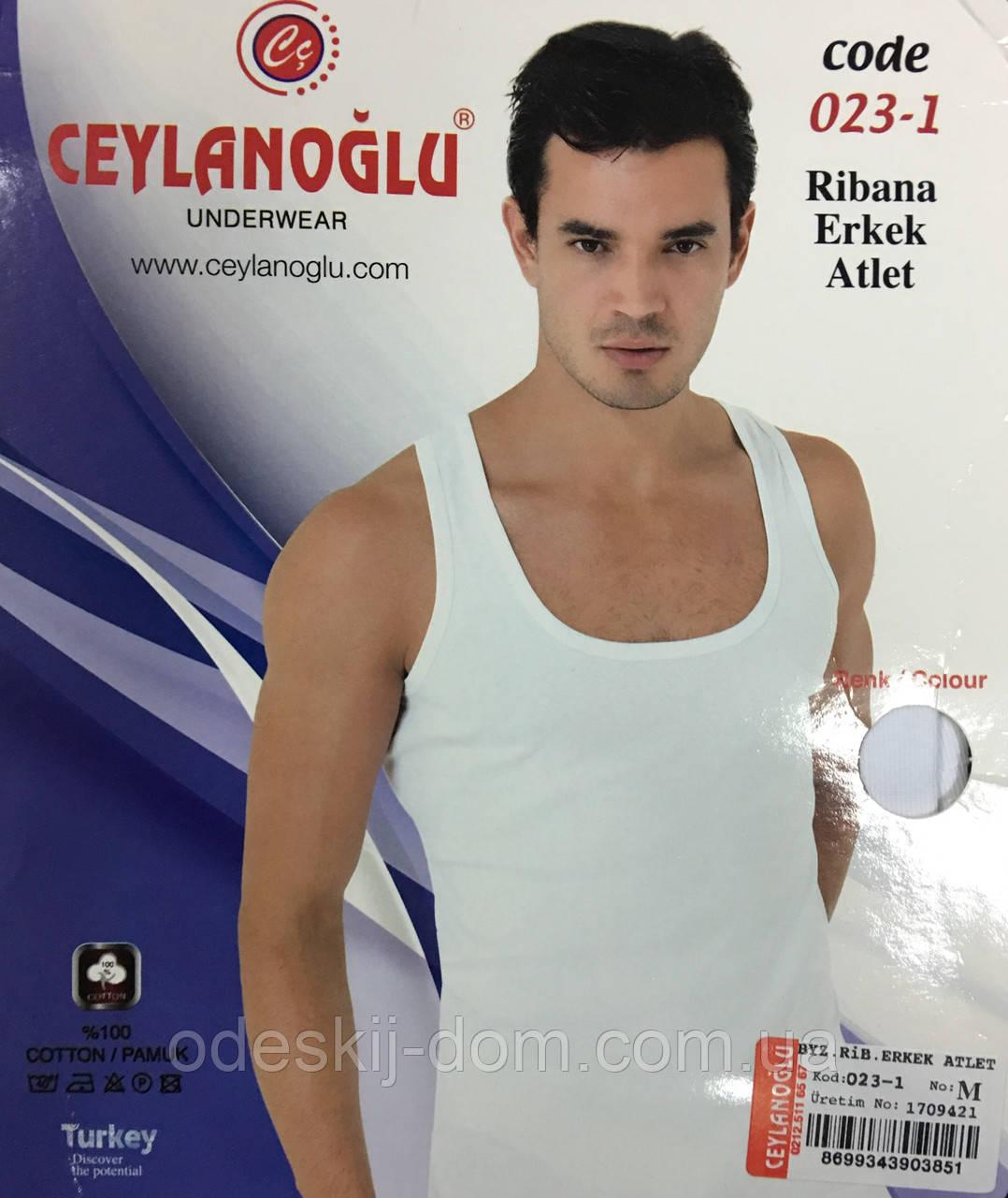 Мужская турецкая майка в рубчик тм CEYLANOGLU р L 46-48