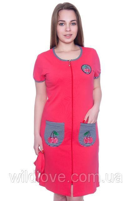 Рожевий річний халат жіночий Wild Love