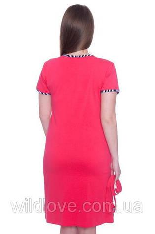 Рожевий річний халат жіночий Wild Love, фото 2